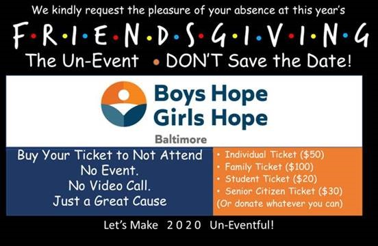 MCF donates to Boys Hope Girls Hope Friendsgiving Event